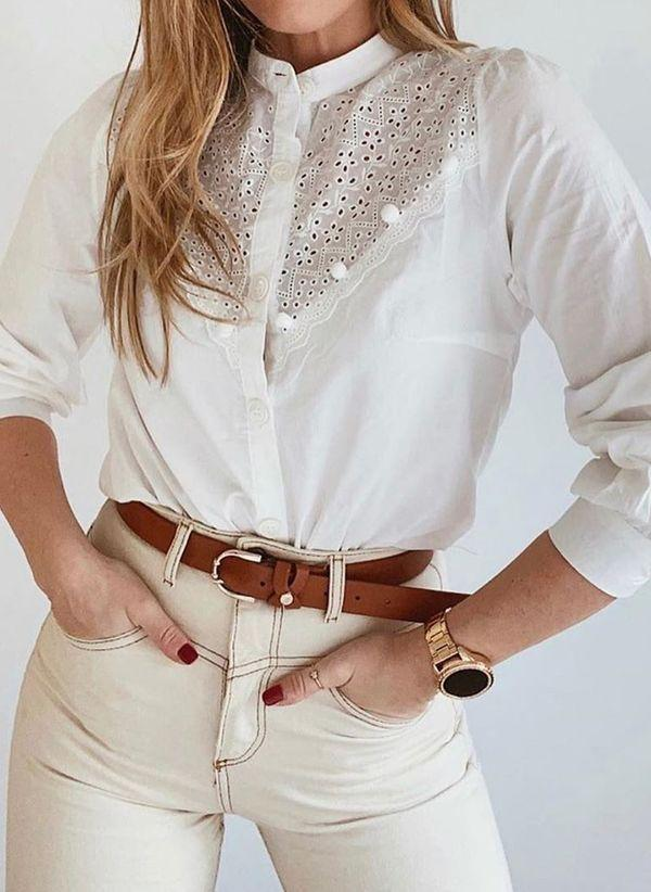 Белая блузка 1464119
