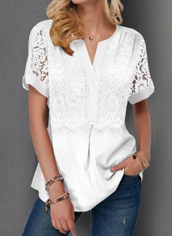 Белая блузка 1481206