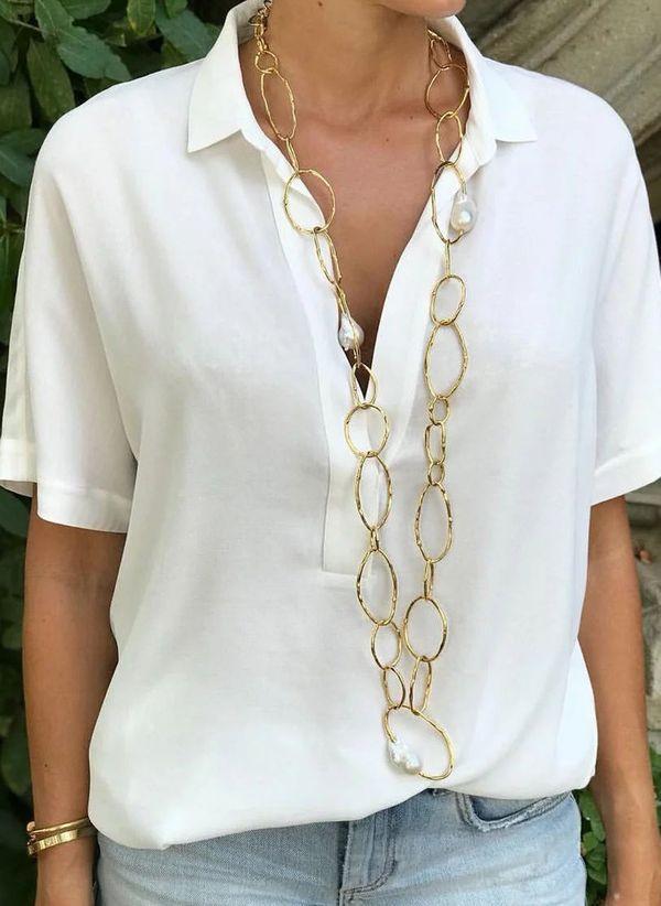 Белая блузка 1481343