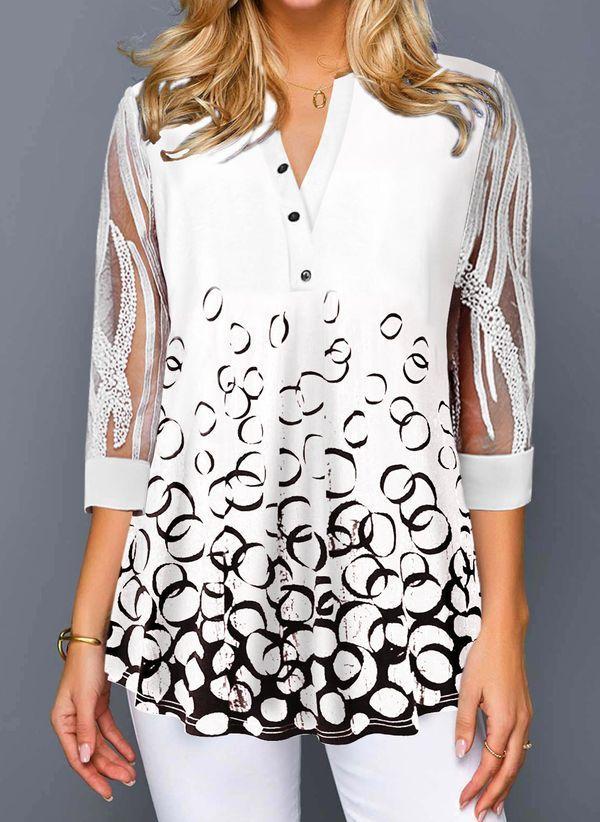 Белая блузка 1483402