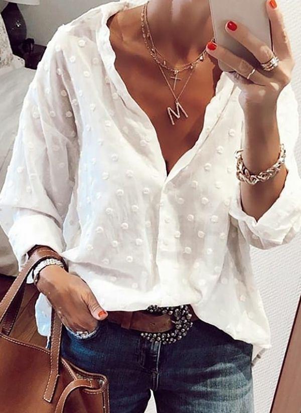 Белая блузка 1485291