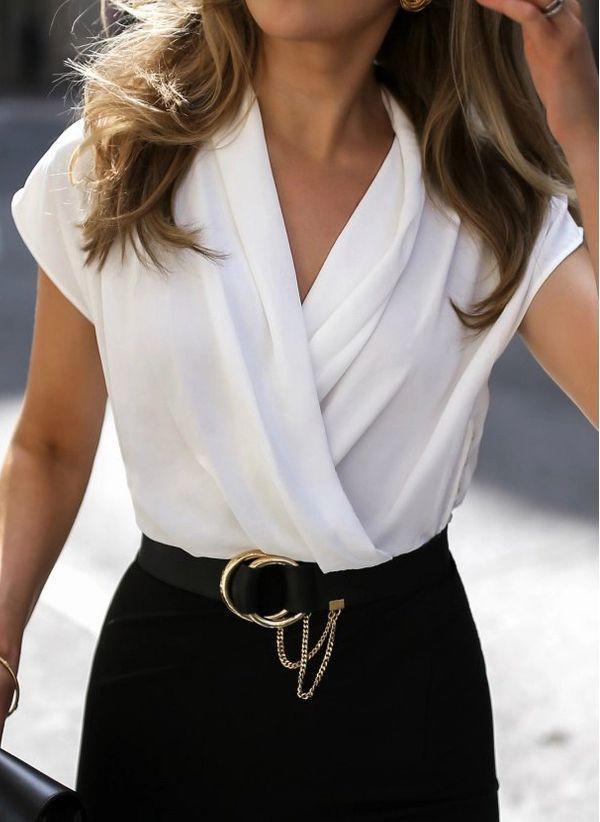 Белая блузка 1486110