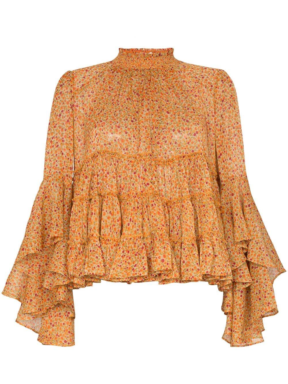 byTiMo ярусная блузка с оборками