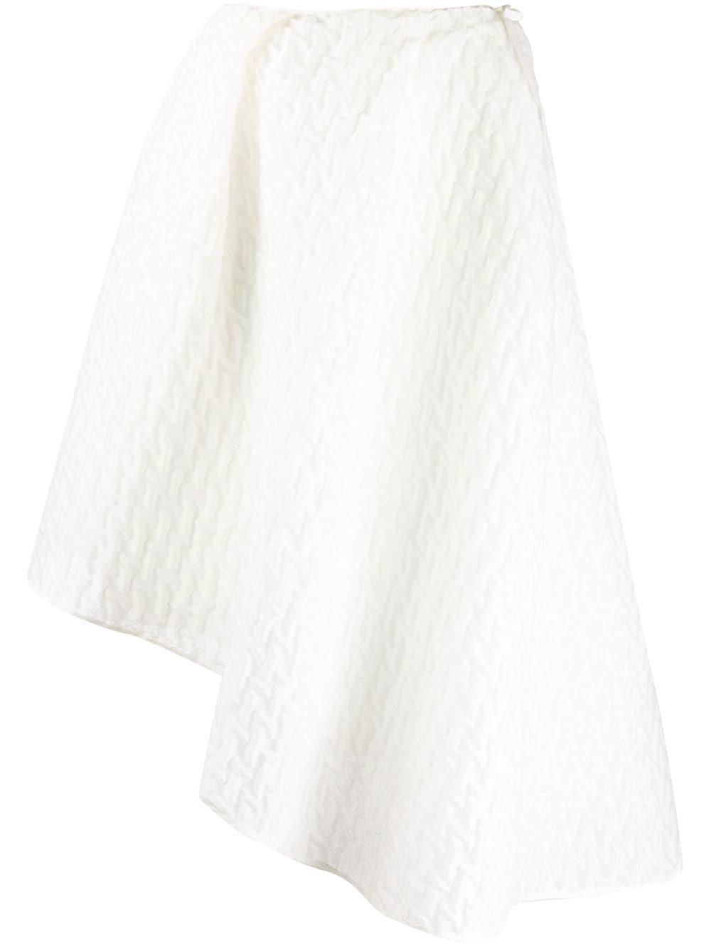 Cecilie Bahnsen фактурная юбка асимметричного кроя