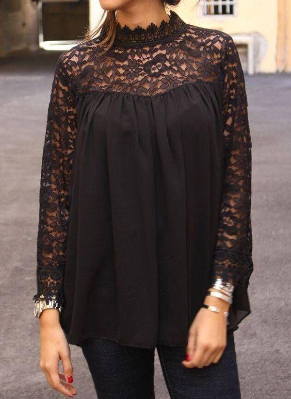 Черные блузки 1401839