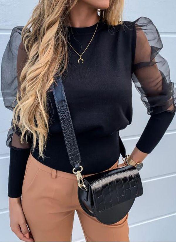 Черные блузки 1461555