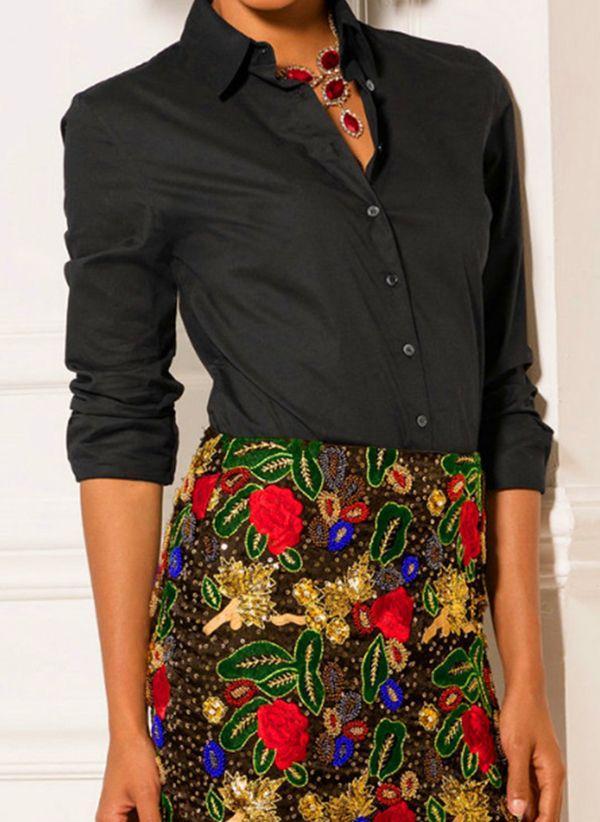 Черные блузки 1461573