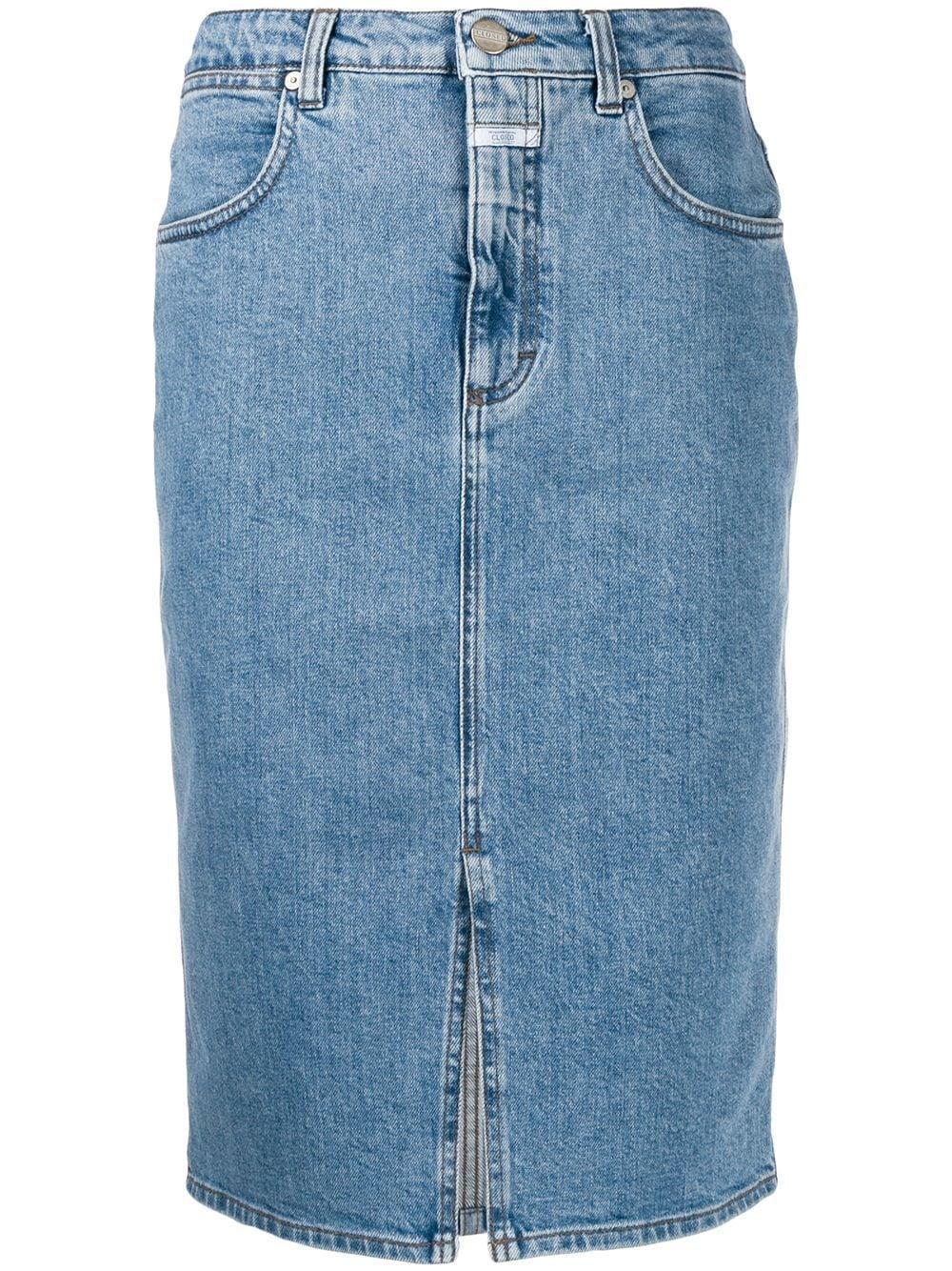 Closed джинсовая юбка-карандаш