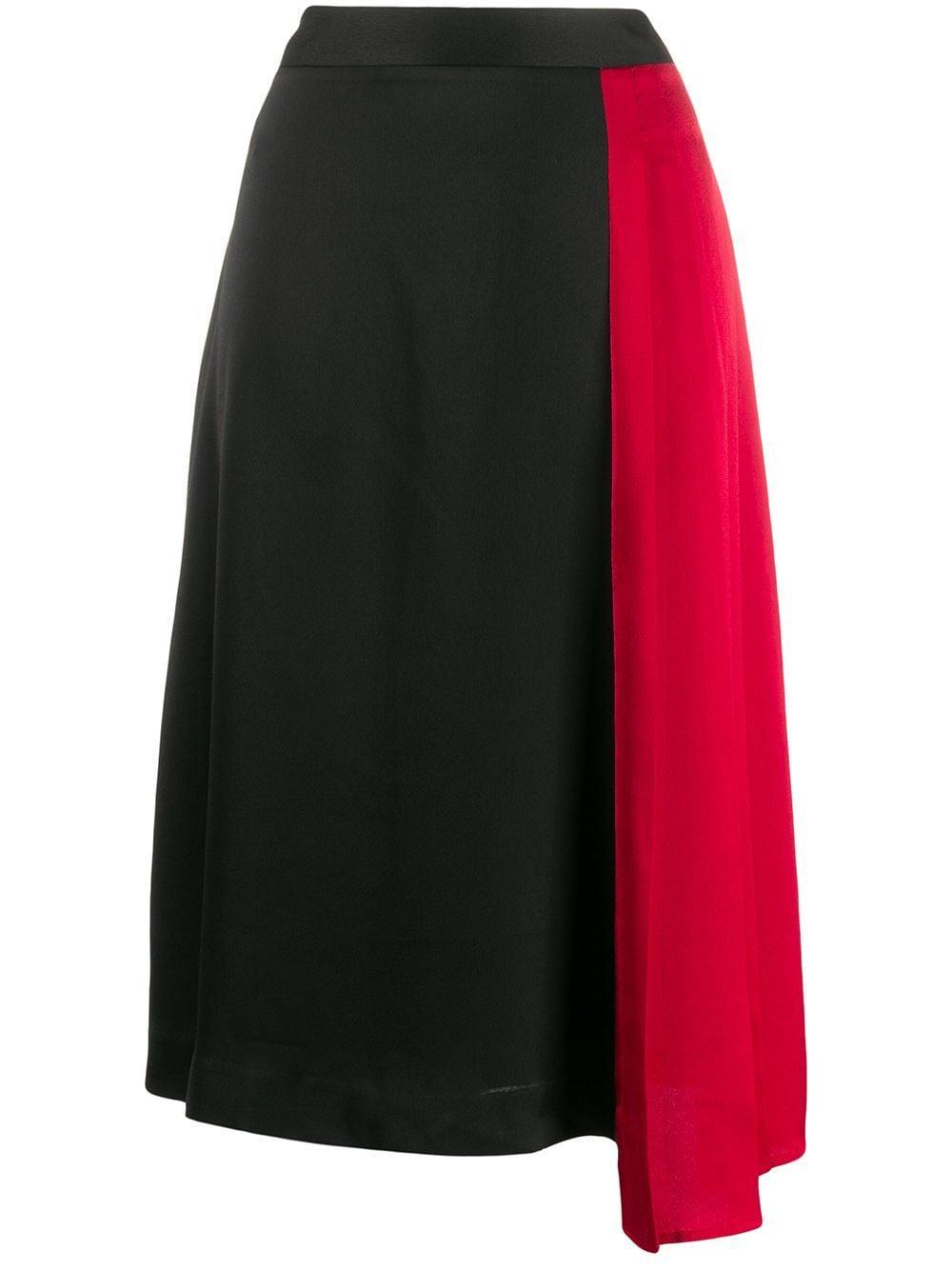 DKNY юбка асимметричного кроя в стиле колор-блок