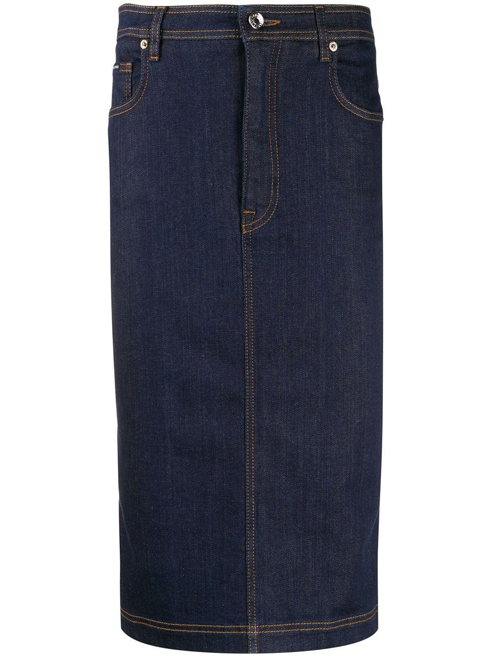 Dolce & Gabbana джинсовая юбка-карандаш