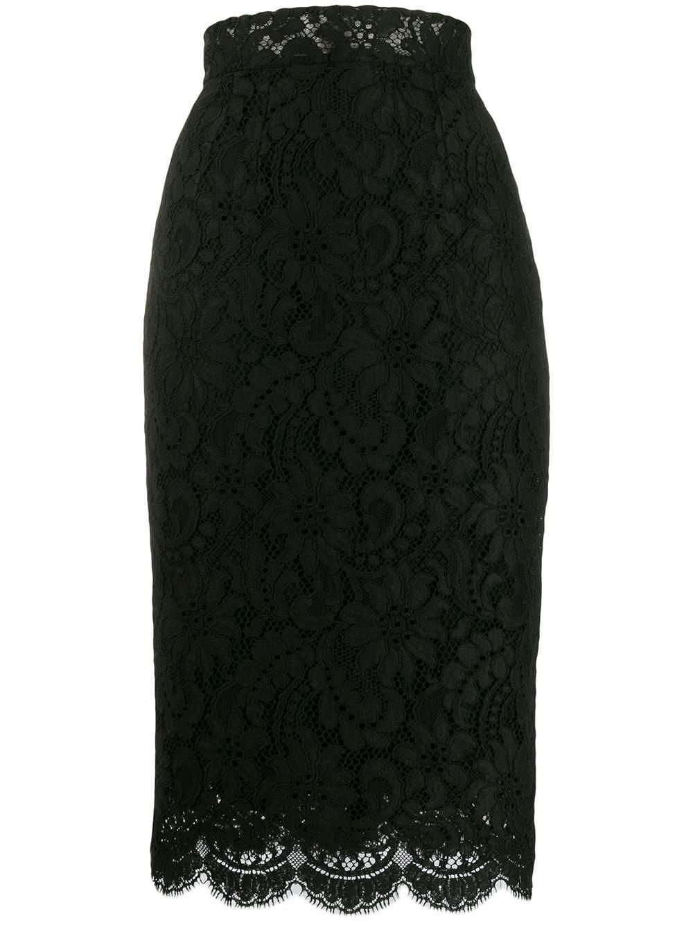 Dolce & Gabbana кружевная юбка-карандаш с завышенной талией