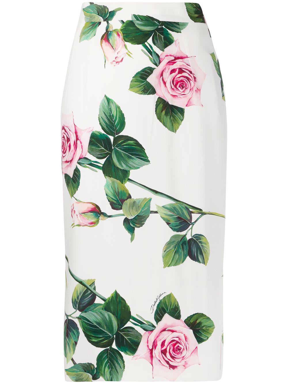 Dolce & Gabbana юбка-карандаш с принтом
