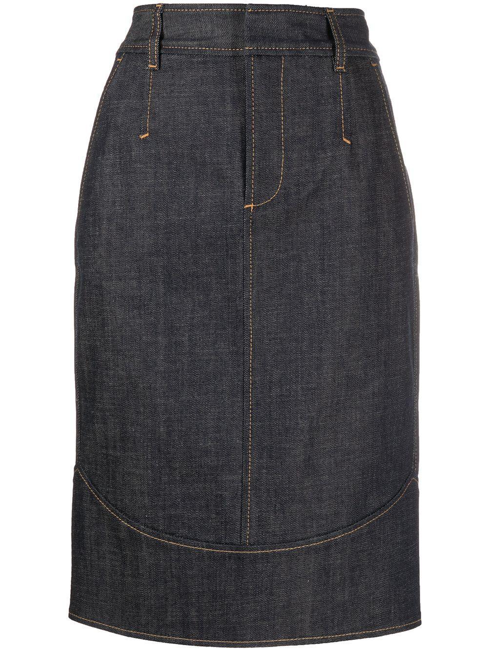Dsquared2 юбка-карандаш прямого кроя