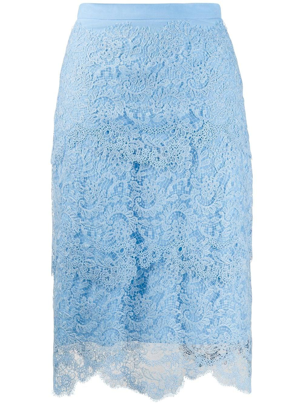 Ermanno Scervino ярусная кружевная юбка-карандаш