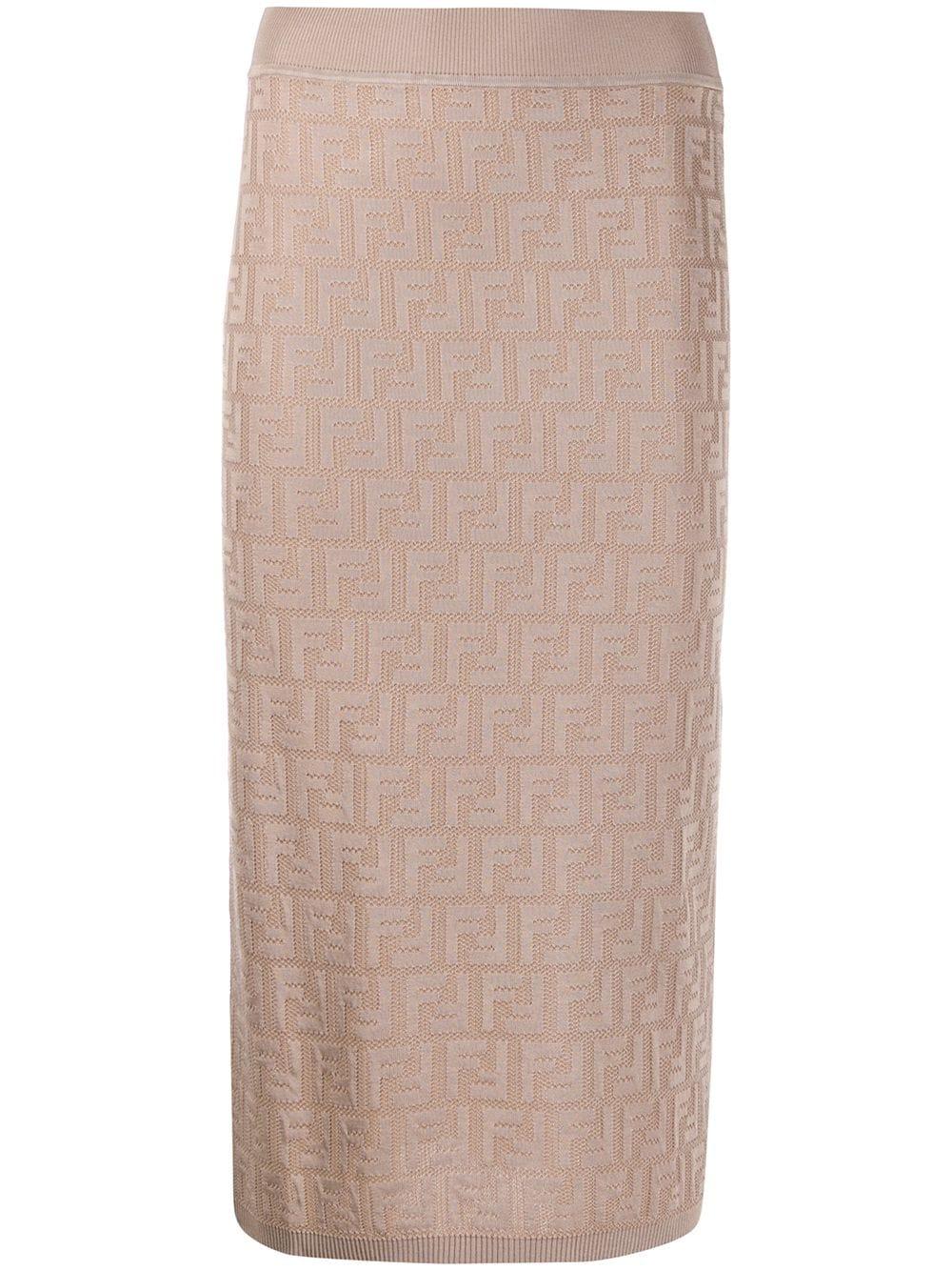 Fendi юбка-карандаш с узором FF