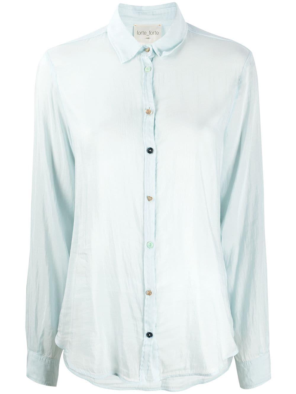 Forte Forte прозрачная блузка с длинными рукавами