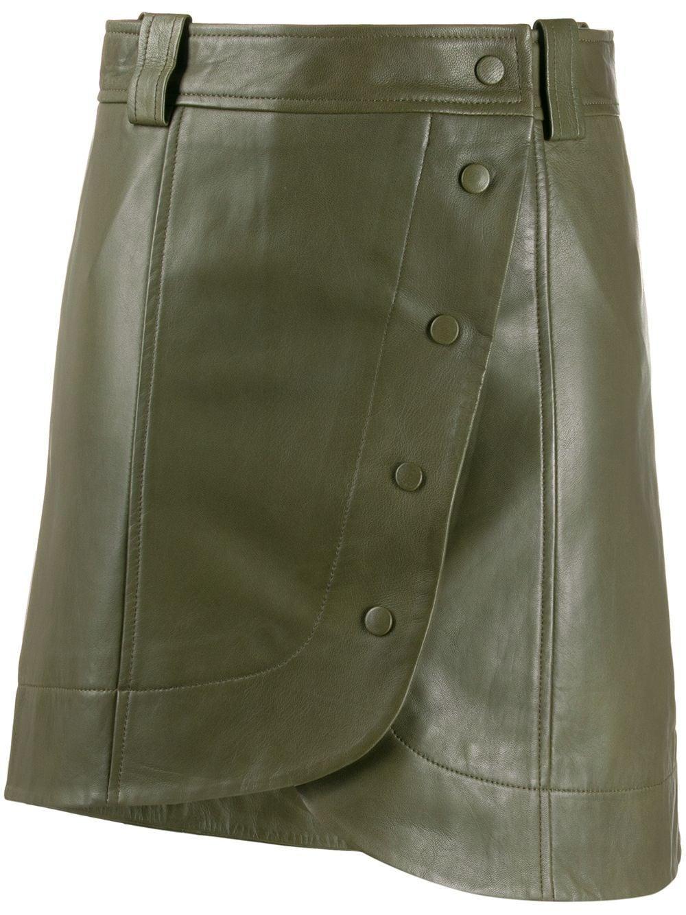 GANNI юбка мини асимметричного кроя с пуговицами