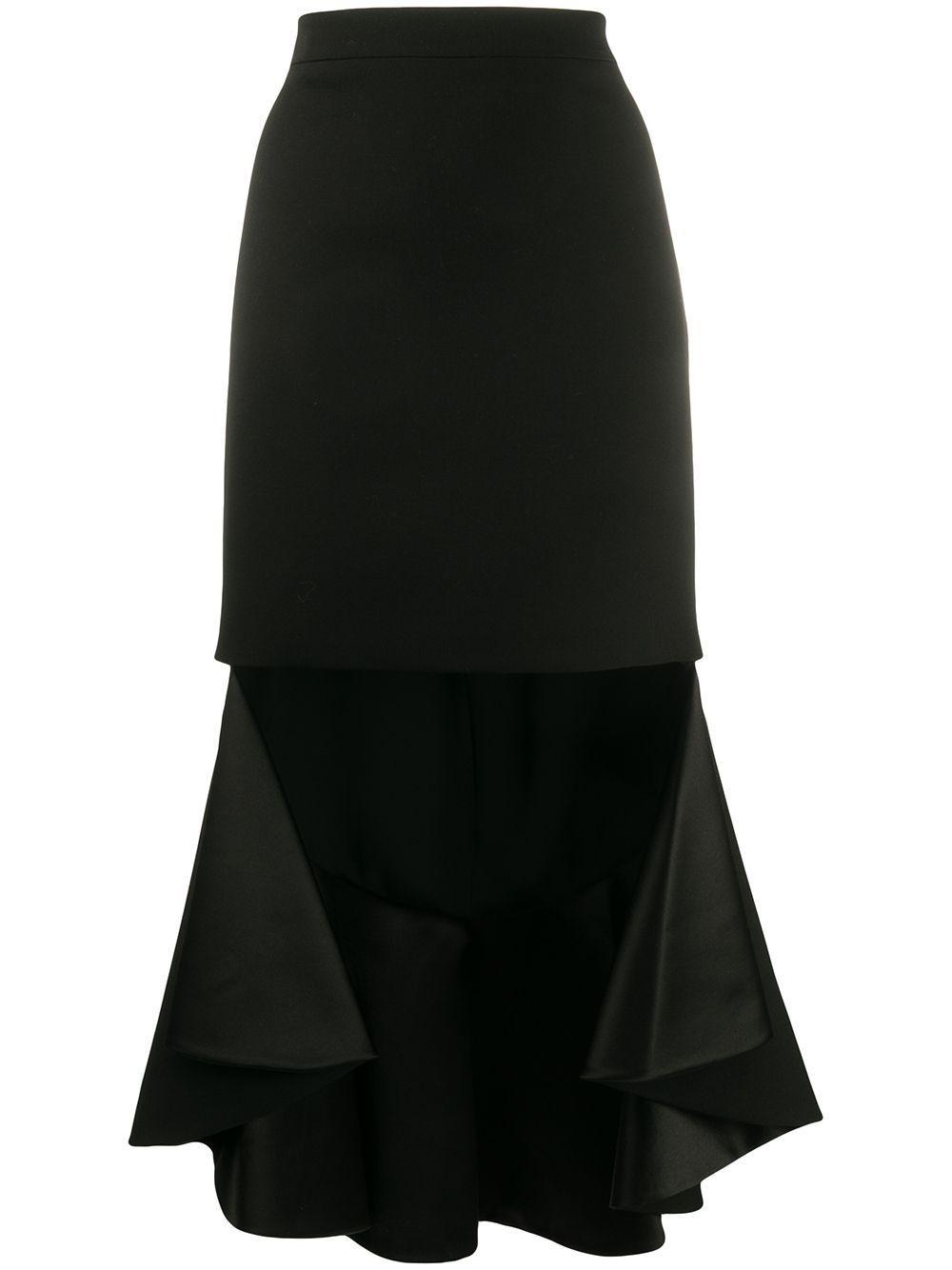 Givenchy юбка асимметричного кроя с оборками