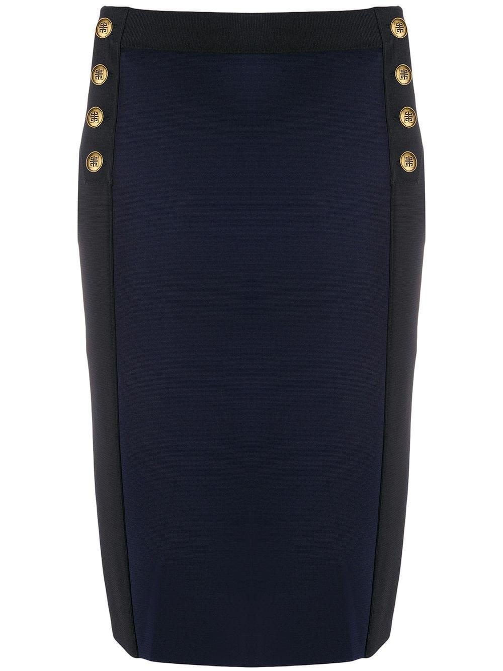 Givenchy юбка-карандаш с декора��ивными пуговицами