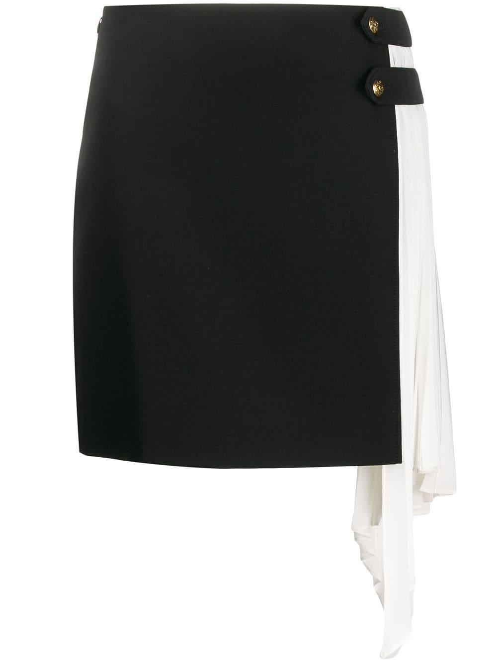 Givenchy юбка мини с плиссировкой