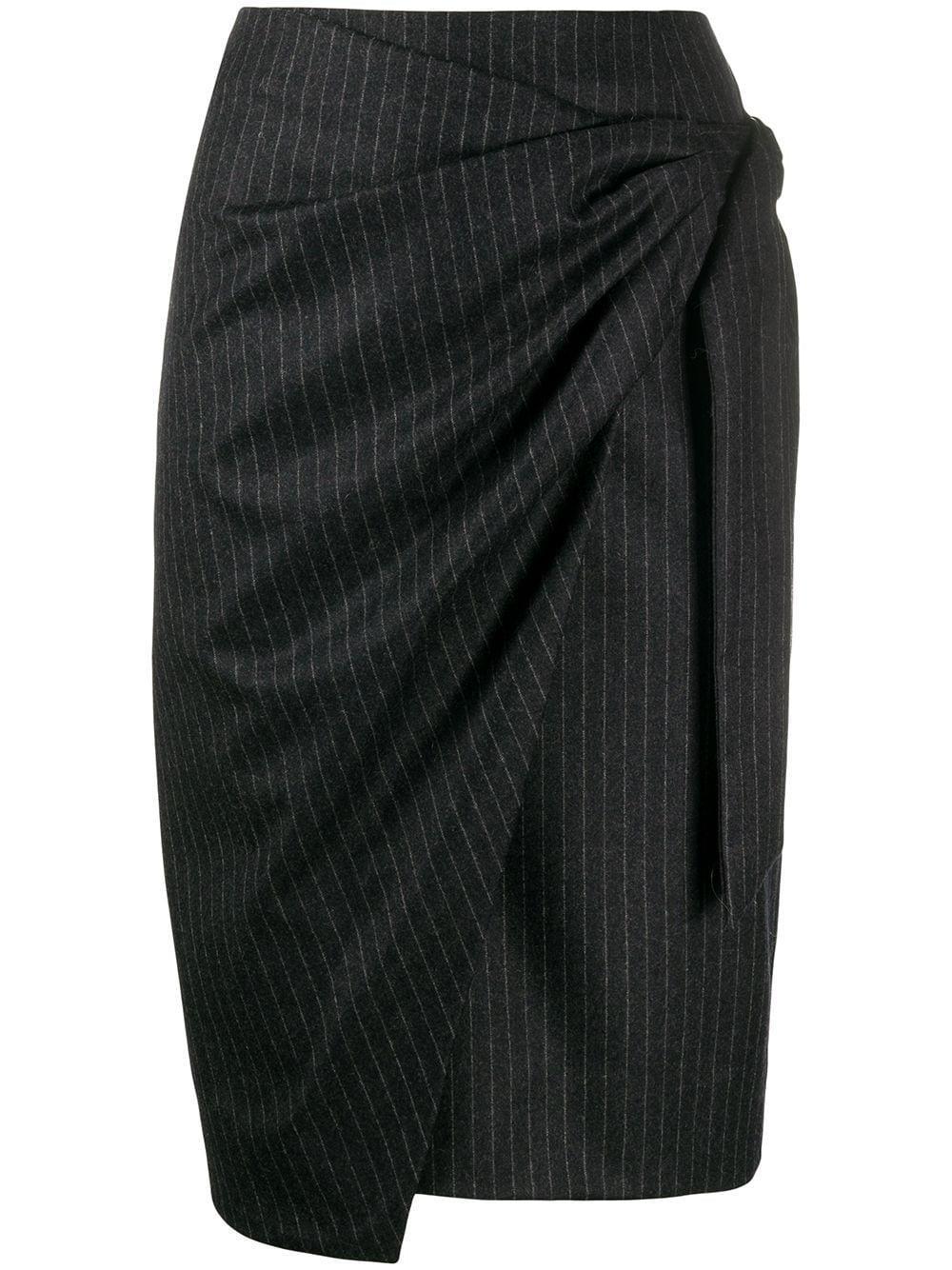 Isabel Marant pinstriped draped skirt
