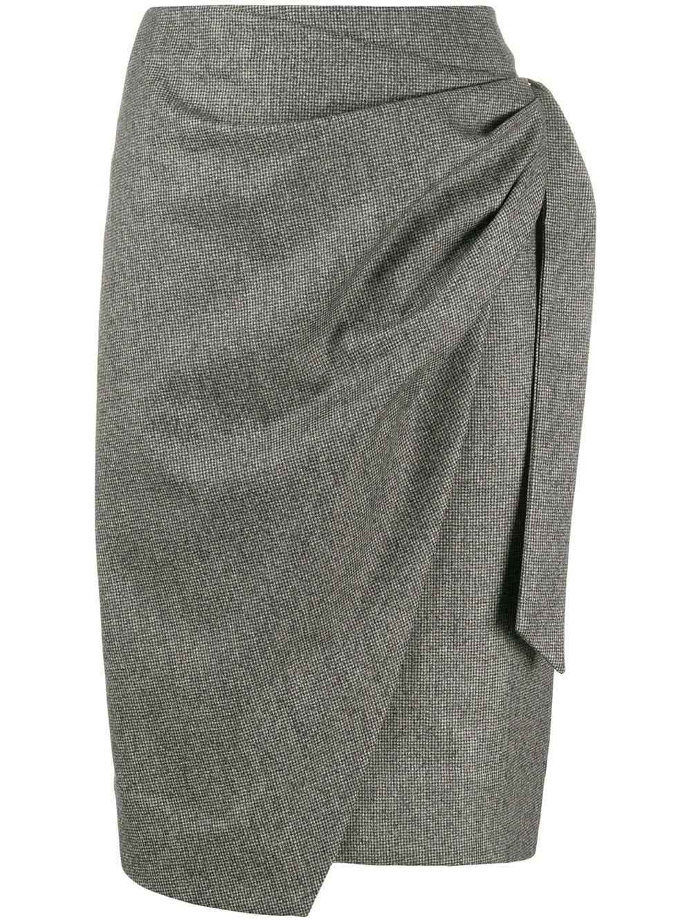 Isabel Marant юбка с драпировкой и запахом