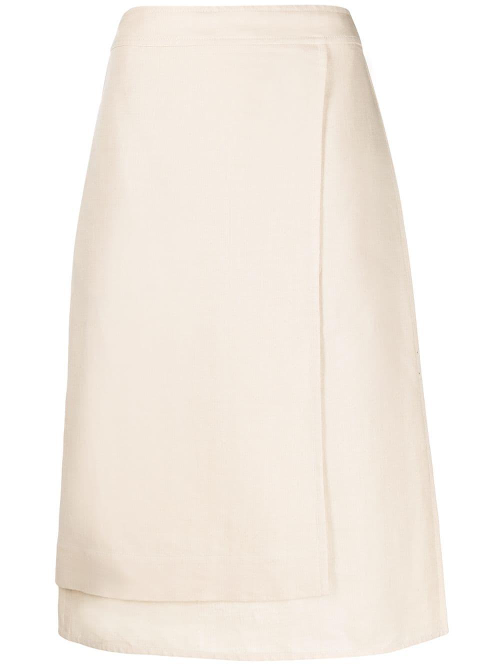 Jil Sander многослойная юбка-карандаш