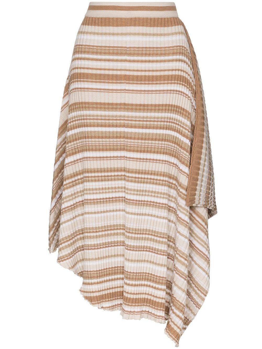 JW Anderson юбка в рубчик с асимметричным подолом