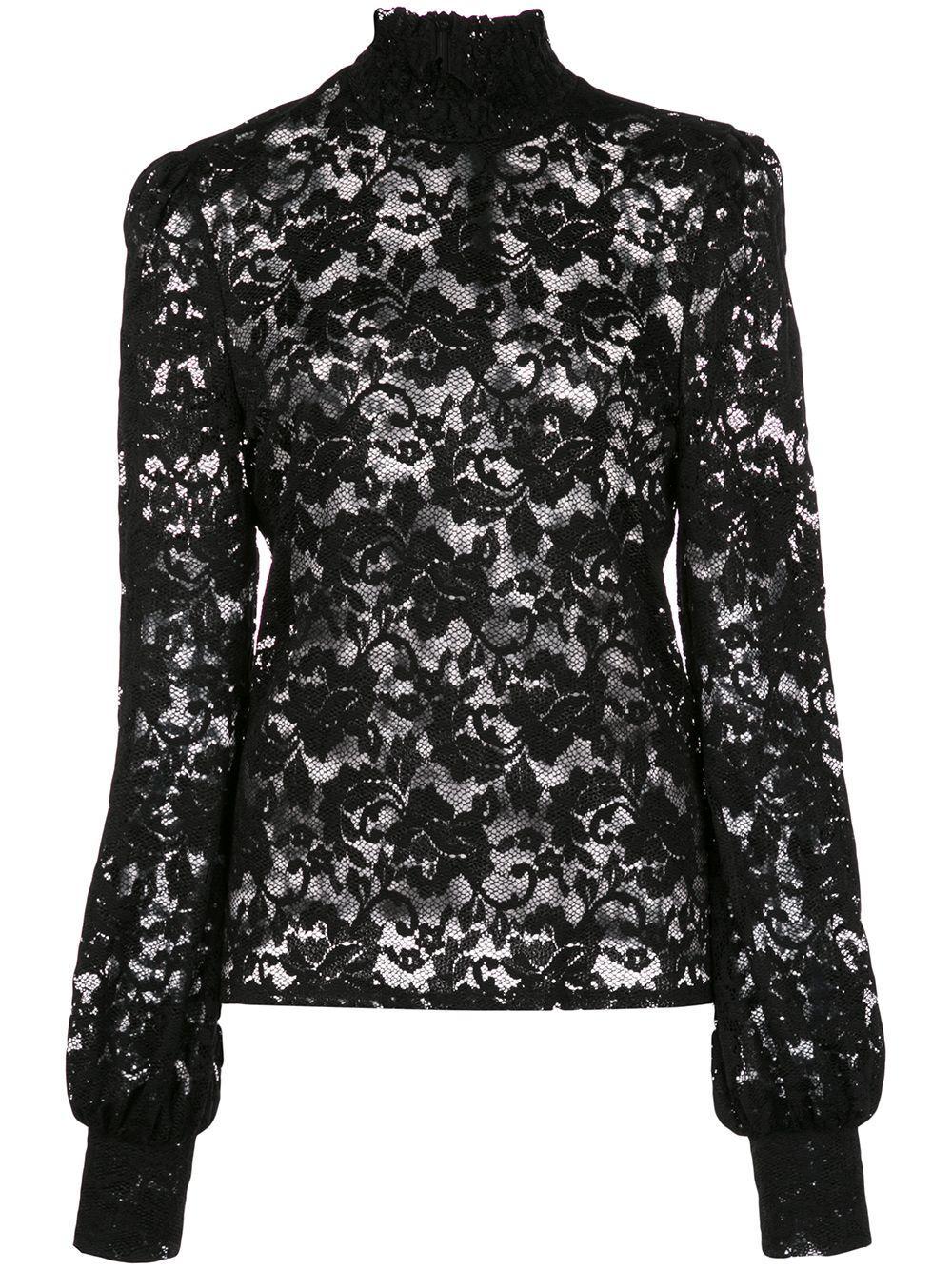 L'Agence кружевная блузка