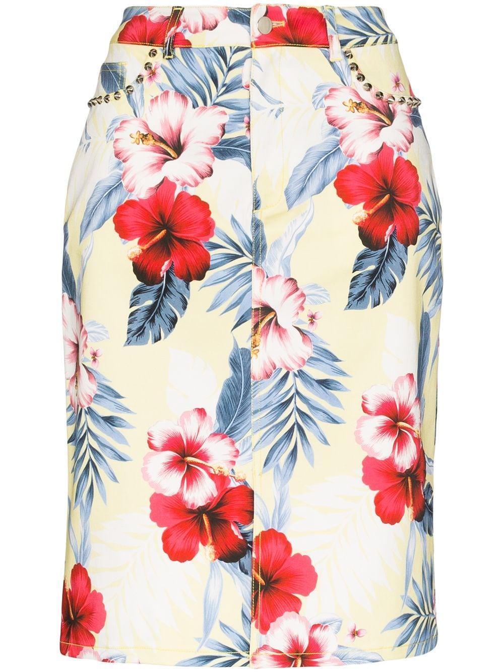 Les Reveries юбка-карандаш с цветочным принтом