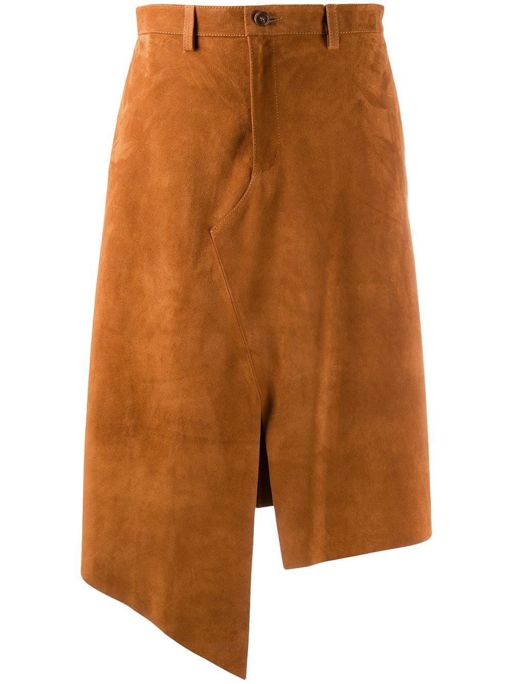 Maison Margiela юбка асимметричного кроя с разрезом