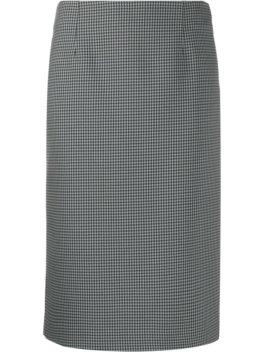 Maison Margiela юбка-карандаш в ломаную клетку
