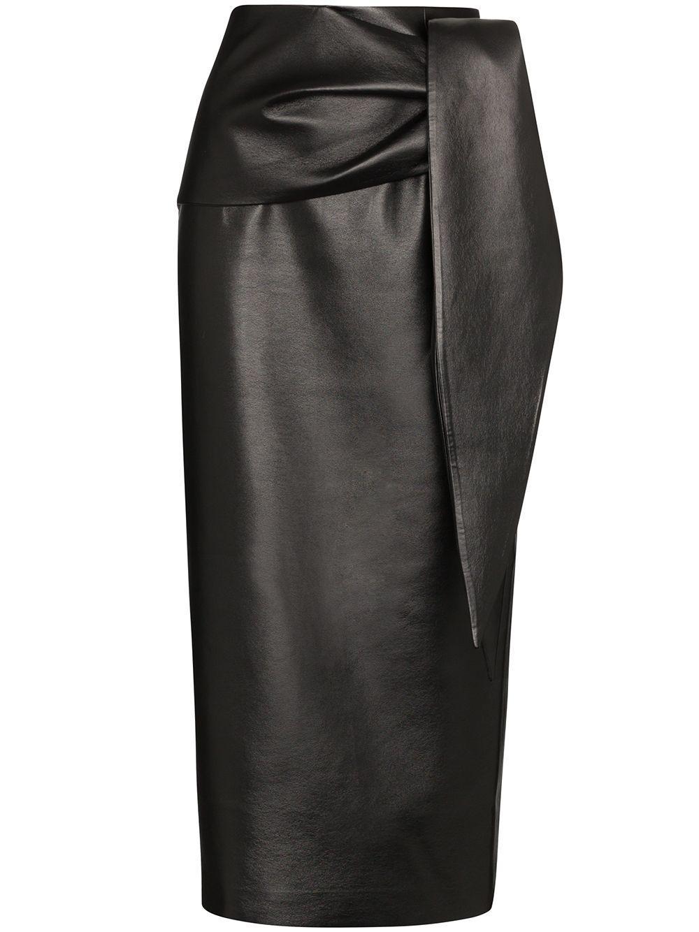 Matériel юбка-карандаш длины миди с завязками