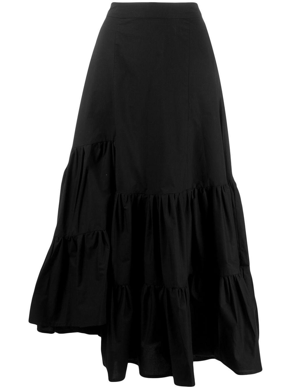 Mm6 Maison Margiela ярусная юбка асимметричного кроя