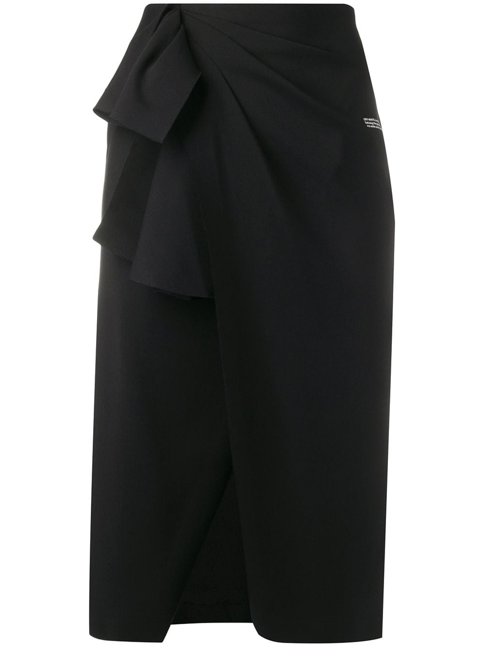 Off-White pleated wrap pencil skirt