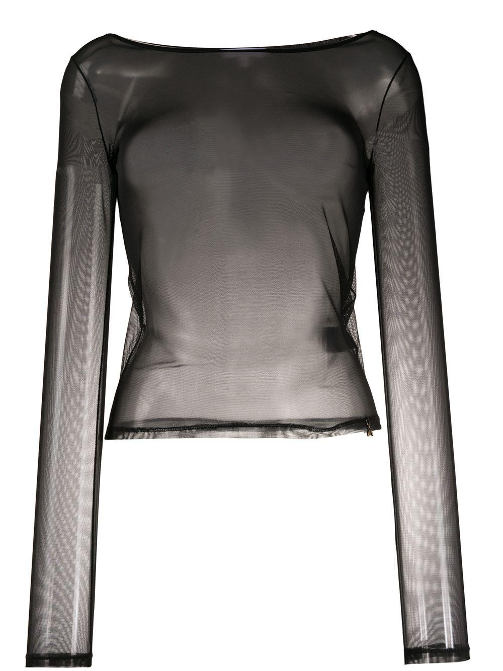 Patrizia Pepe sheer fitted blouse