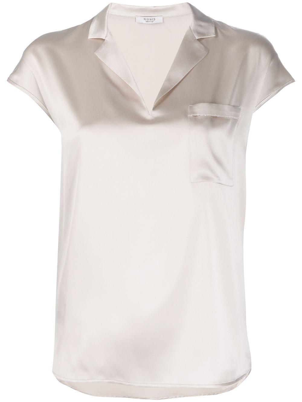 Peserico блузка свободного кроя с заостренным воротником