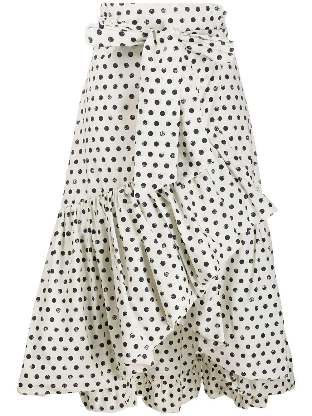 Pinko юбка миди в горох с запахом