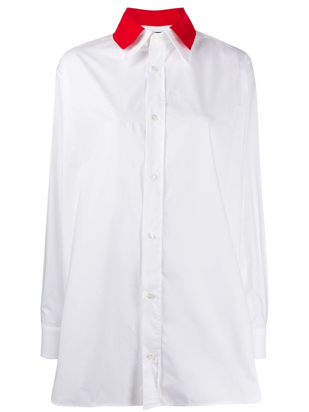 Plan C рубашка с контрастным воротником