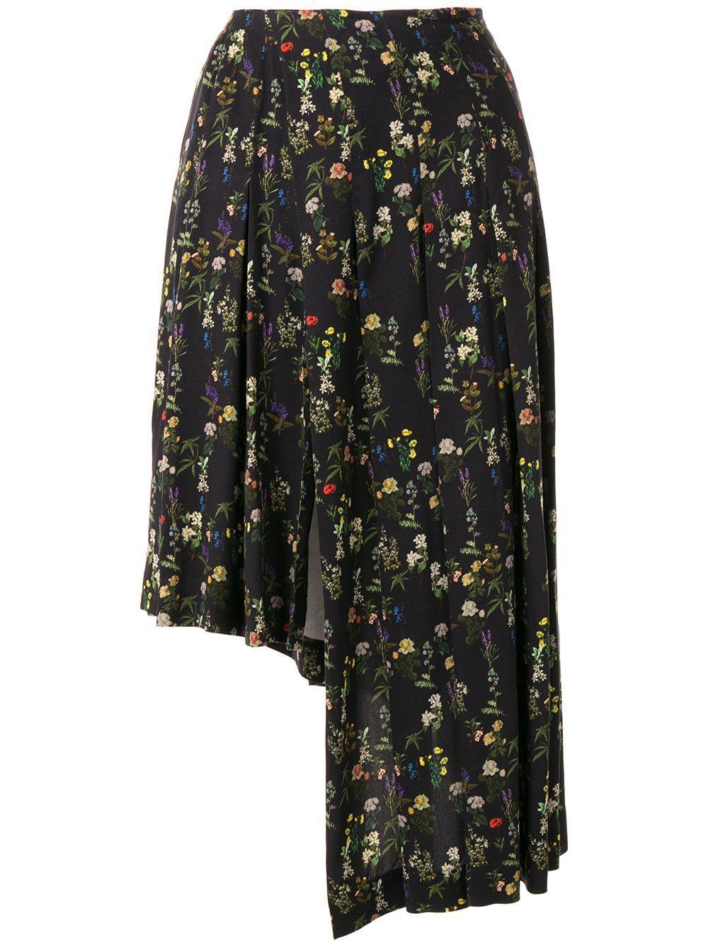 Preen By Thornton Bregazzi юбка асимметричного кроя с цветочным принтом