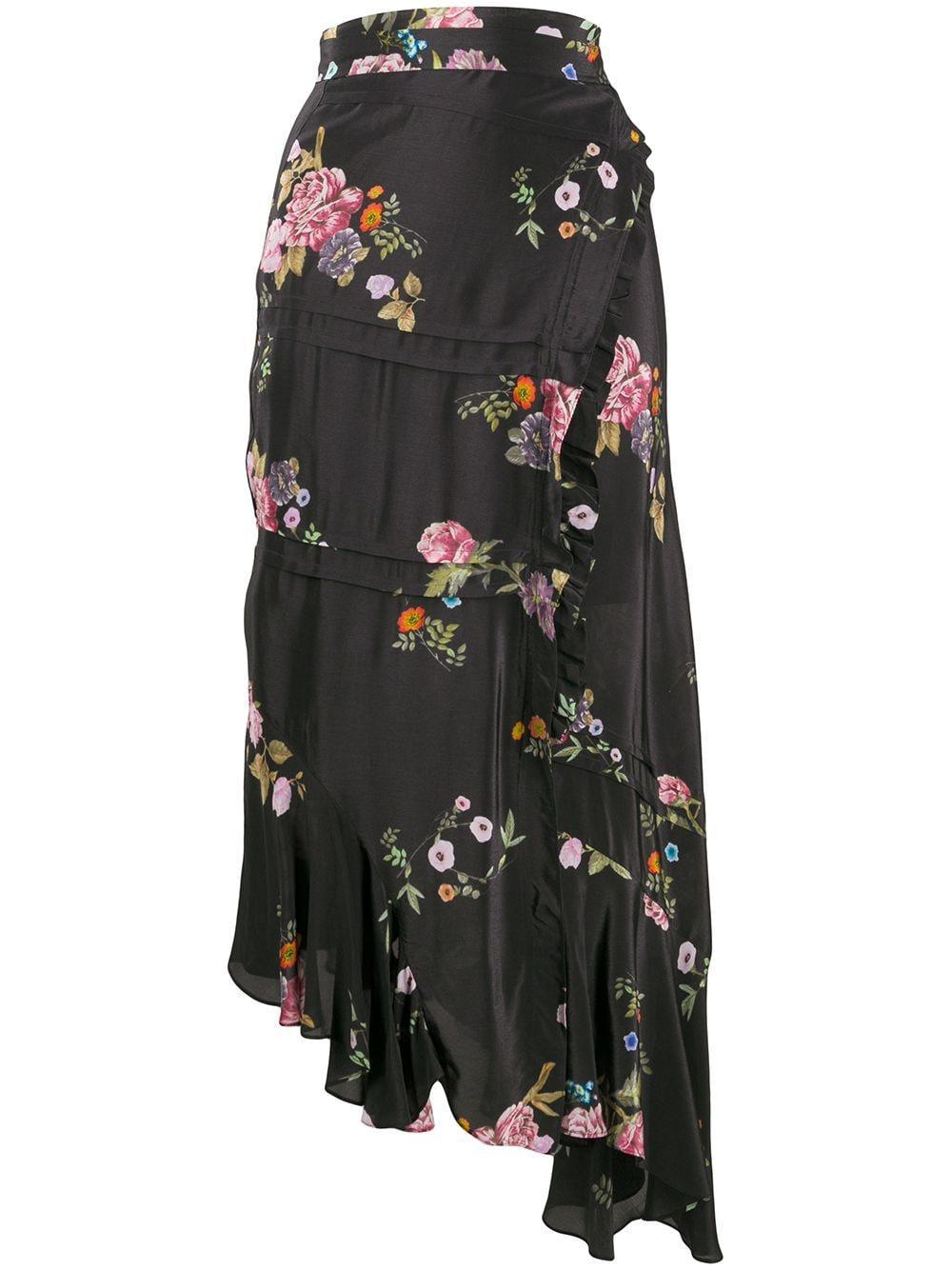 Preen Line юбка Kalifa с цветочным принтом