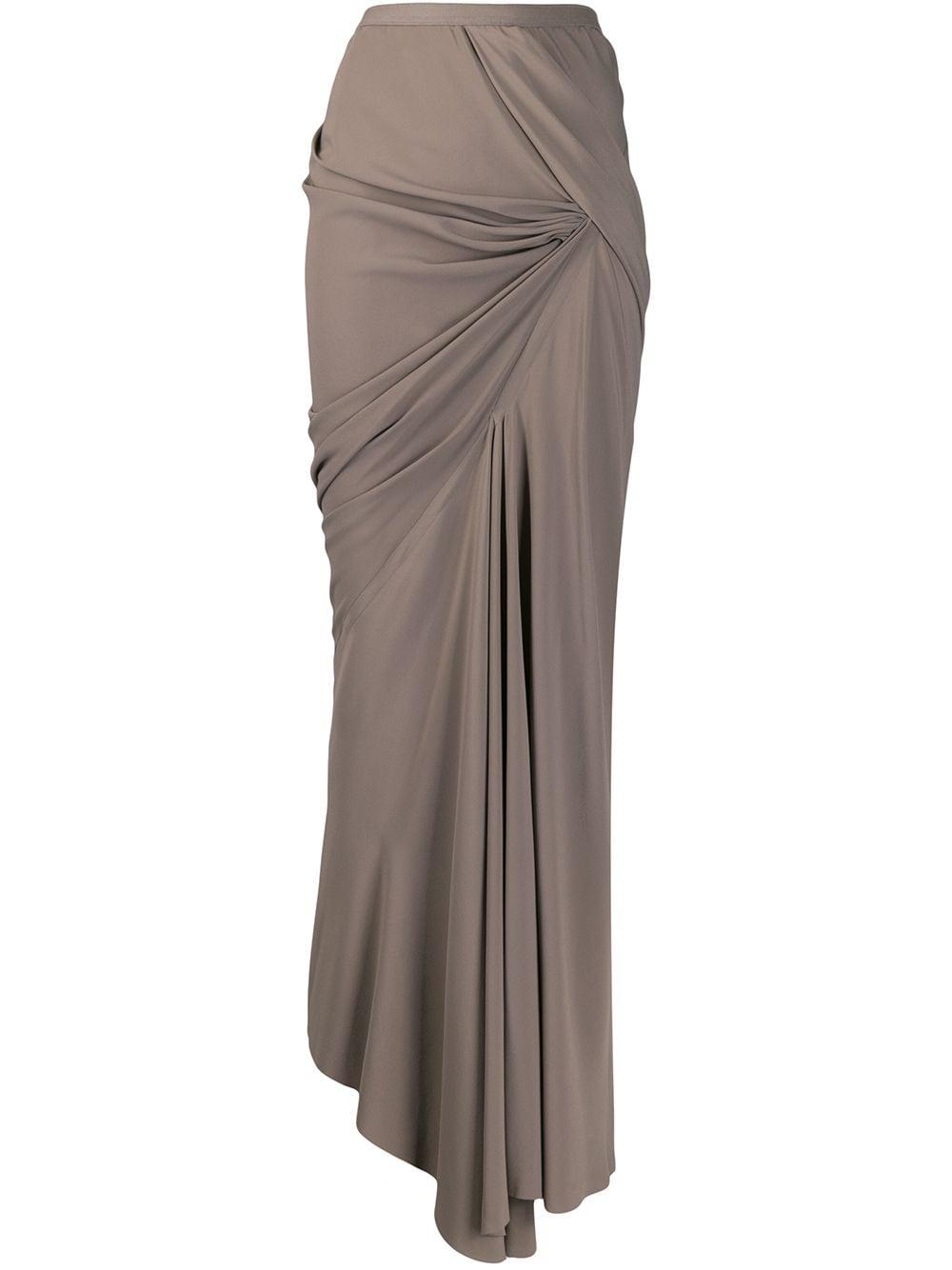 Rick Owens юбка макси асимметричного кроя