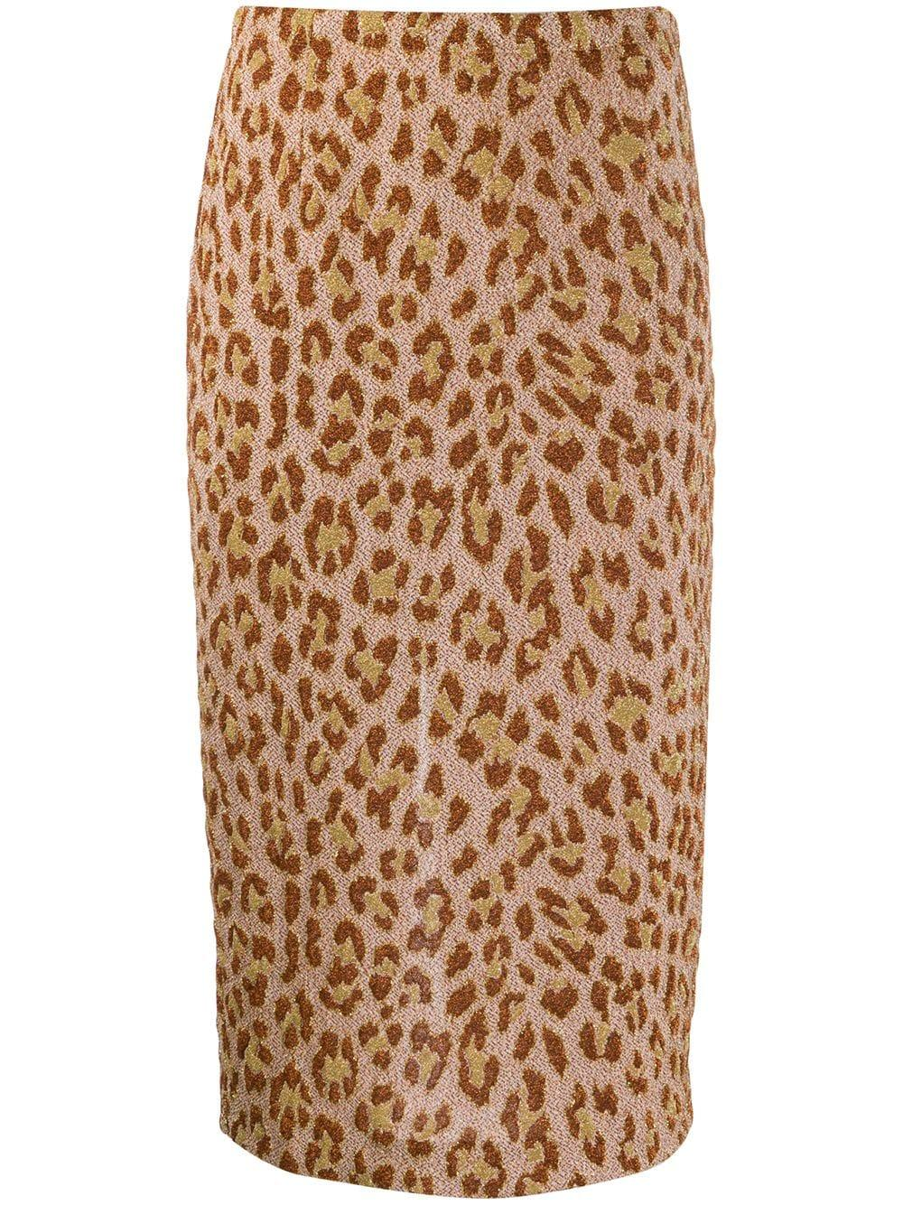 Semicouture leopard print pencil skirt