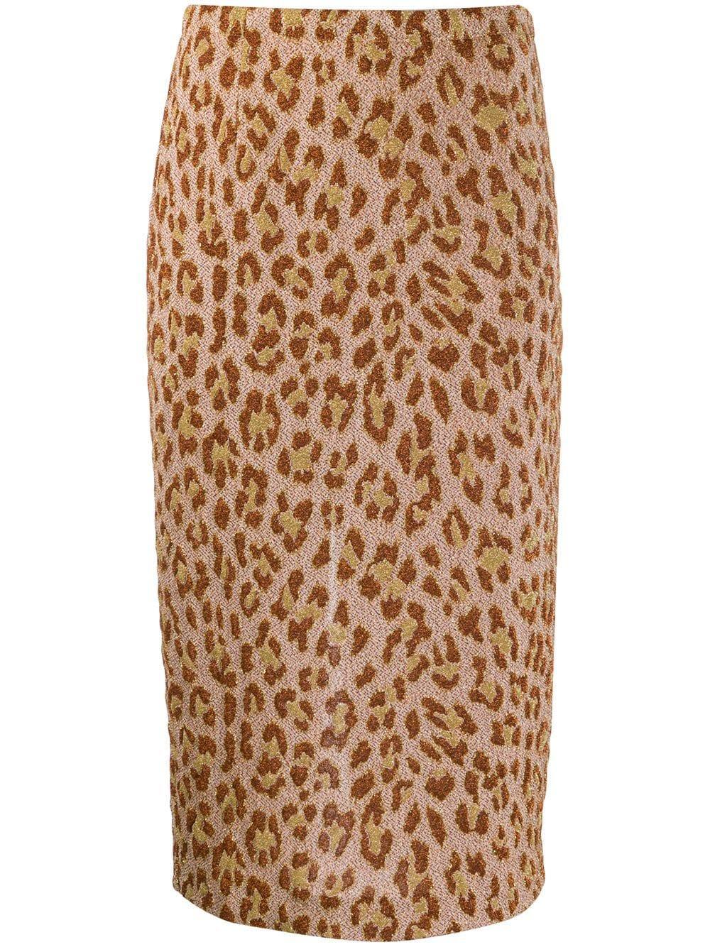 Semicouture юбка-карандаш с леопардовым принтом