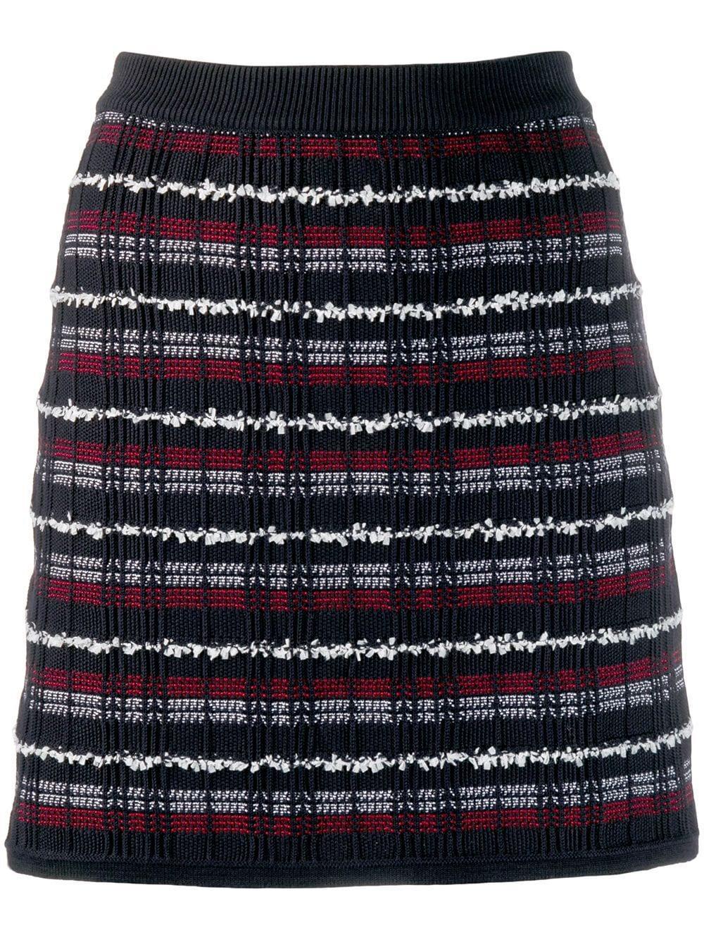 Thom Browne твидовая мини-юбка в клетку