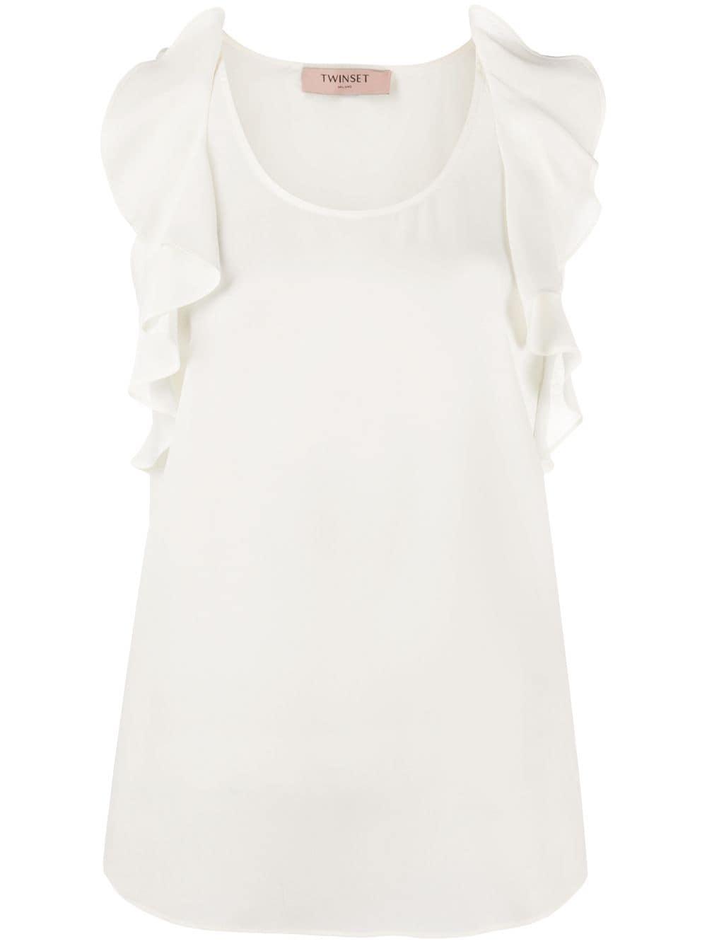 Twin-Set блузка без рукавов с оборками