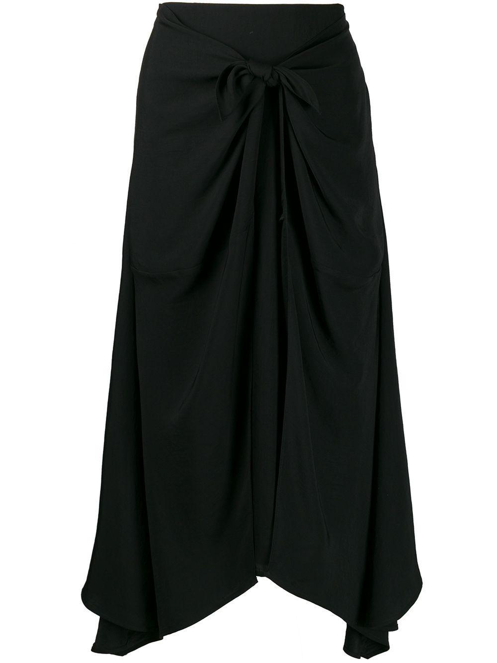 Vince twist-detail asymmetric skirt