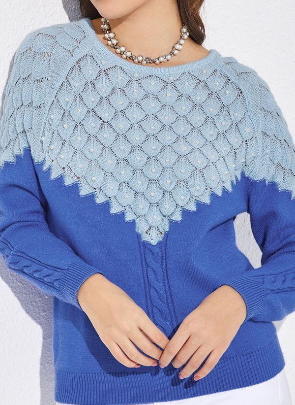 Вязаный свитер осень/зима 2019-2020 1350534