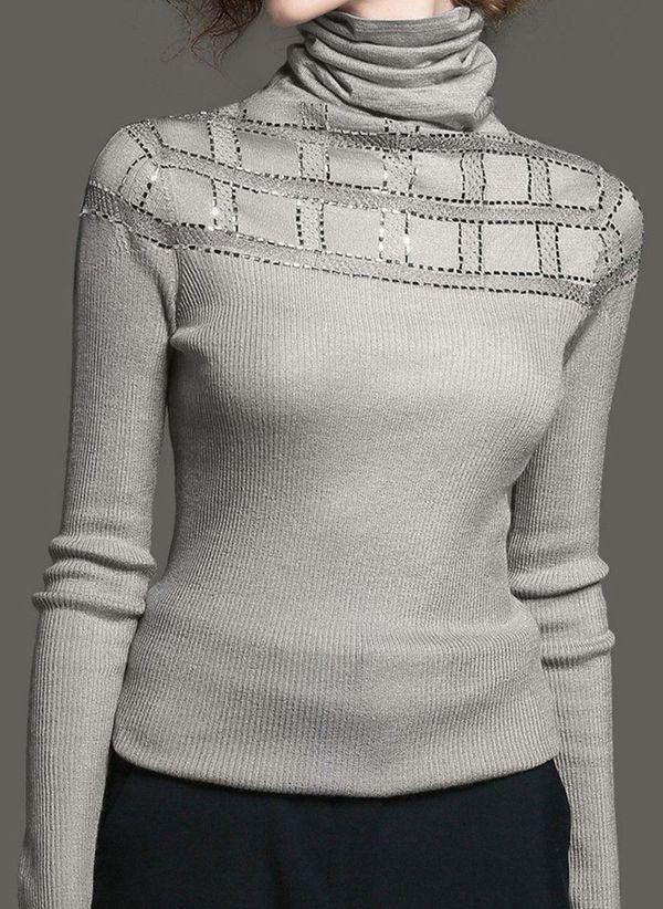 Вязаный свитер осень/зима 2019-2020 1364814