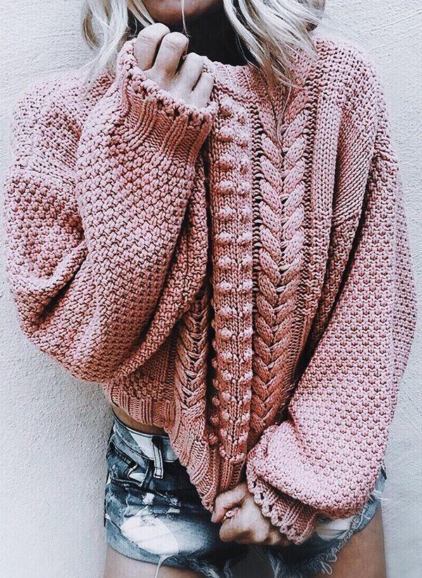 Вязаный свитер осень/зима 2019-2020 1365475